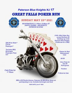 Great Falls Poker Run  (BK NJ-17) @ DUFFYS TAVERN