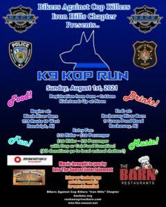 K9 KOP RUN @ Black River Barn to Rockaway River Barn