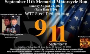 Knights of the Inferno - Sept. 11th Memorial Ride @ Knights of Columbus Council 3402 in Keyport, NJ