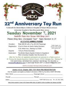 22nd Anniversary Toy Run - Liberty Chapter HOG Rahway NJ @ Liberty Harley-Davidson